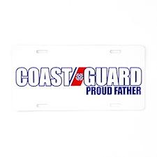 USCG Father Aluminum License Plate