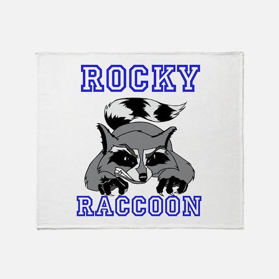Rocky Raccoon Throw Blanket