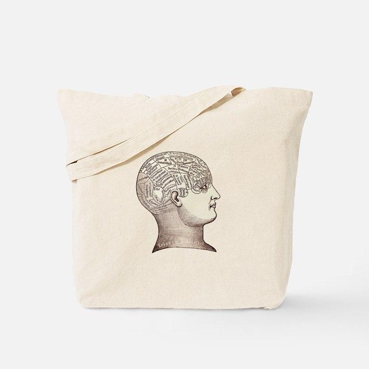 Victorian Phrenology Tote Bag