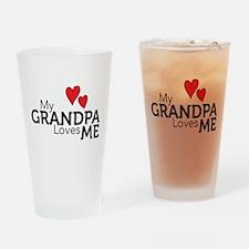My Grandpa Loves Me Drinking Glass
