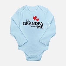 My Grandpa Loves Me Long Sleeve Infant Bodysuit