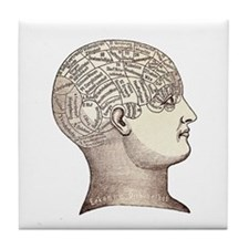 Victorian Phrenology Tile Coaster