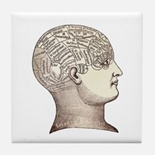 Victorian Phrenology Tile Coaster