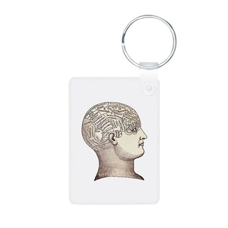 Victorian Phrenology Aluminum Photo Keychain