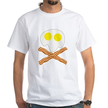 Breakfast Pirate White T-Shirt