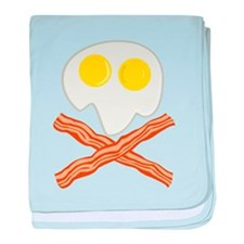 Breakfast Pirate baby blanket
