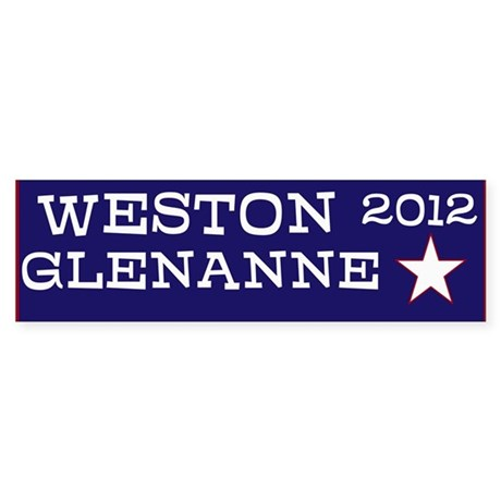 Weston for President Sticker (Bumper)