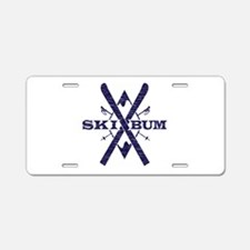 Ski Bum Aluminum License Plate