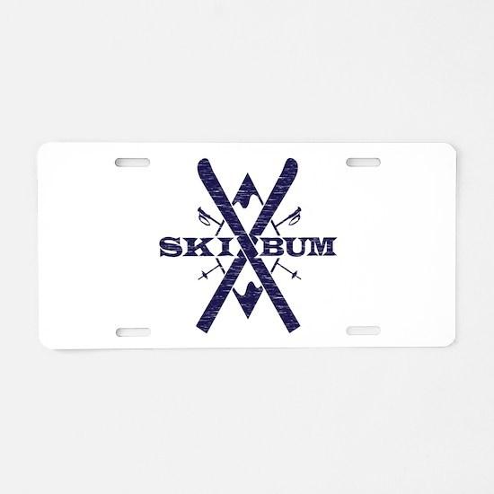 Ski Bum Aluminum License Plate
