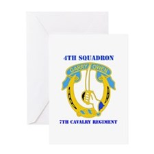 DUI - 4th Sqdrn - 7th Cavalry Regt with Text Greet