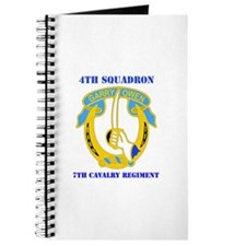 DUI - 4th Sqdrn - 7th Cavalry Regt with Text Journ