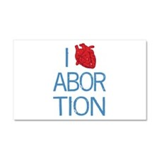 I Heart Abortion Car Magnet 20 x 12