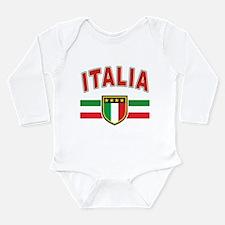 italian pride Long Sleeve Infant Bodysuit