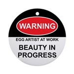 WARNING Artist @ Work Ornament