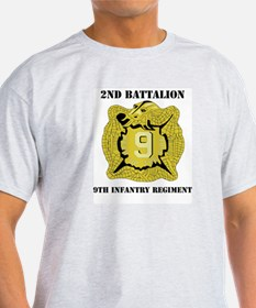 DUI - 2nd Bn - 9th Infantry Regt with Text T-Shirt