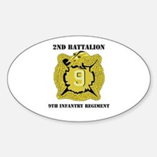 DUI - 2nd Bn - 9th Infantry Regt with Text Decal