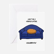 Couch Latke Greeting Card