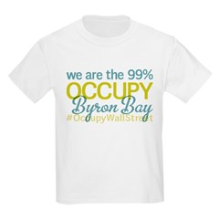 Occupy Byron Bay Kids Light T-Shirt