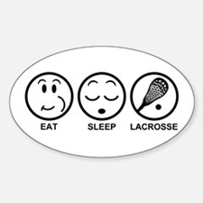 Eat Sleep Lacrosse Decal