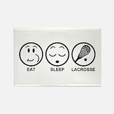 Eat Sleep Lacrosse Rectangle Magnet