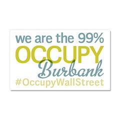 Occupy Burbank Car Magnet 20 x 12