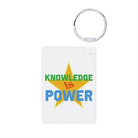Knowledge is Power Aluminum Photo Keychain