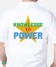 Knowledge is Power Golf Shirt