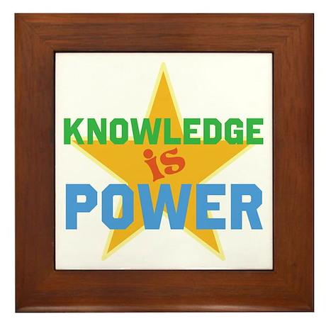 Knowledge is Power Framed Tile