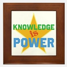 Knowledge is Power Framed Tile