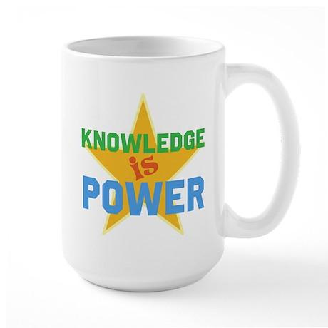 Knowledge is Power Large Mug