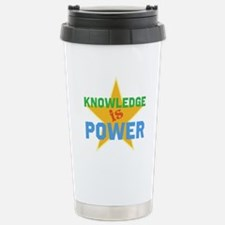 Knowledge is Power Travel Mug