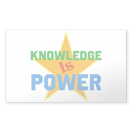 Knowledge is Power Sticker (Rectangle)