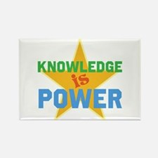 Knowledge is Power Rectangle Magnet