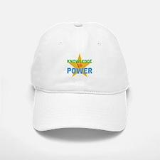 Knowledge is Power Baseball Baseball Cap
