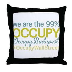 Occupy Budapest Throw Pillow