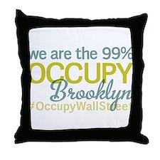 Occupy Brooklyn Throw Pillow