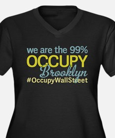 Occupy Brooklyn Women's Plus Size V-Neck Dark T-Sh
