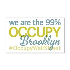 Occupy Brooklyn Car Magnet 20 x 12