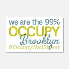 Occupy Brooklyn Car Magnet 20 x 12