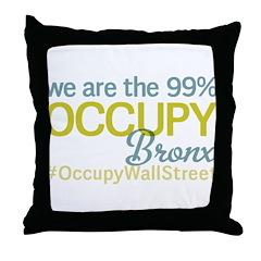Occupy Bronx Throw Pillow