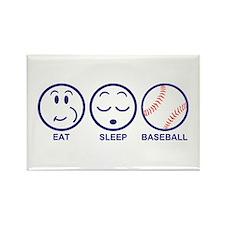 Eat Sleep Baseball Rectangle Magnet