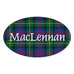 Tartan - MacLennan Sticker (Oval 10 pk)