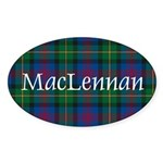 Tartan - MacLennan Sticker (Oval 50 pk)