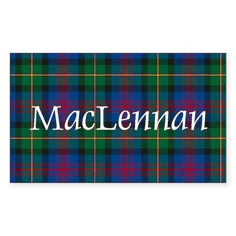 Tartan - MacLennan Sticker (Rectangle)