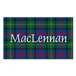 Tartan - MacLennan Sticker (Rectangle 10 pk)