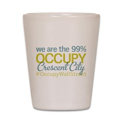 Occupy Crescent City Shot Glass