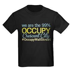 Occupy Crescent City Kids Dark T-Shirt