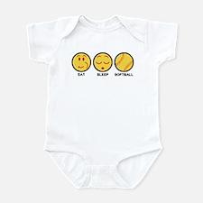 Eat Sleep Softball Infant Bodysuit