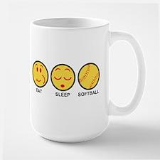 Eat Sleep Softball Large Mug