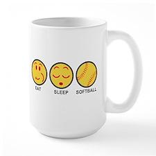 Eat Sleep Softball Mug